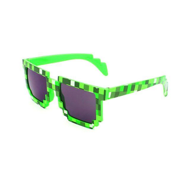 Grøn 8-BIT Solbriller.