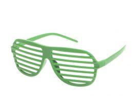 Grønne retro partybriller.