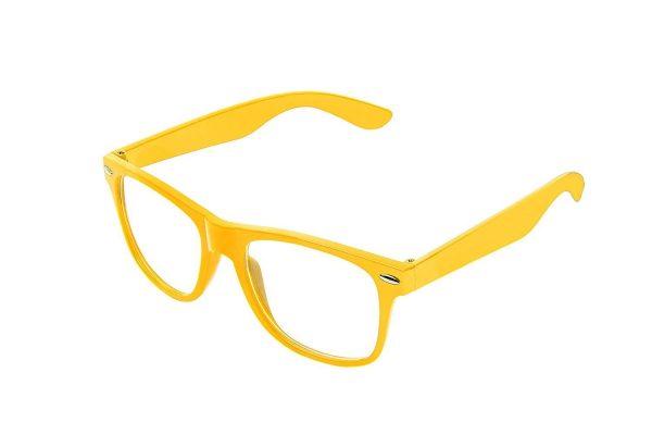gul Wayfarer med klart glas