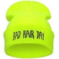 """Gul neonfarvet hue """"Bad hair day"""""""