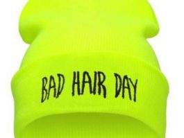 "Gul neonfarvet ""Bad hair day"""
