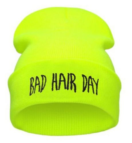 "Gul neonfarvet hue ""Bad hair day"""