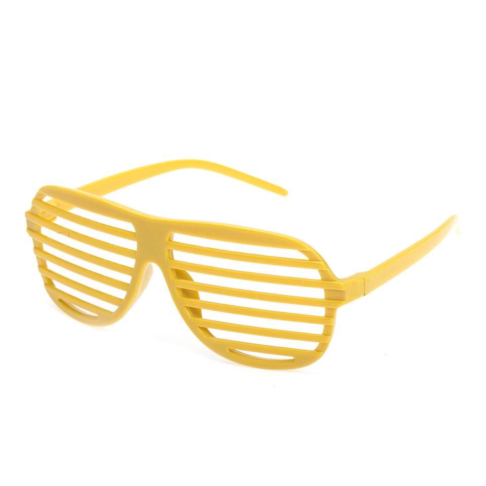 Super Seje gule retro partybriller.