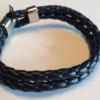 Hanger – Sort læderarmbånd