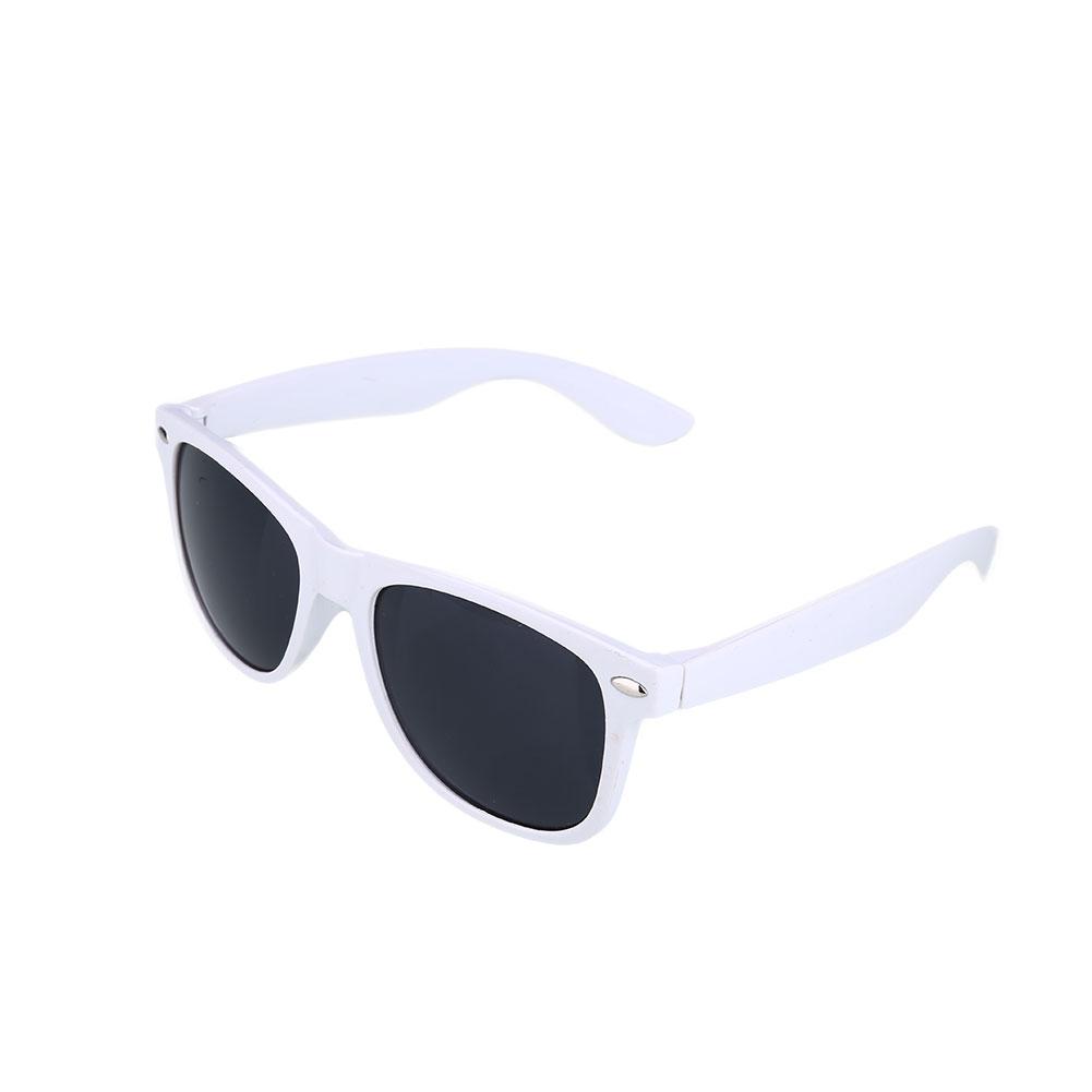 Hvid Wayfarer solbriller med sort glas