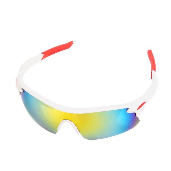 hvid sports solbrille.