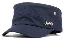 Marineblå cap.