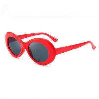 Rød flower power hippie solbrille.