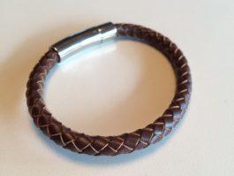 Roma- brunt læderarmbånd