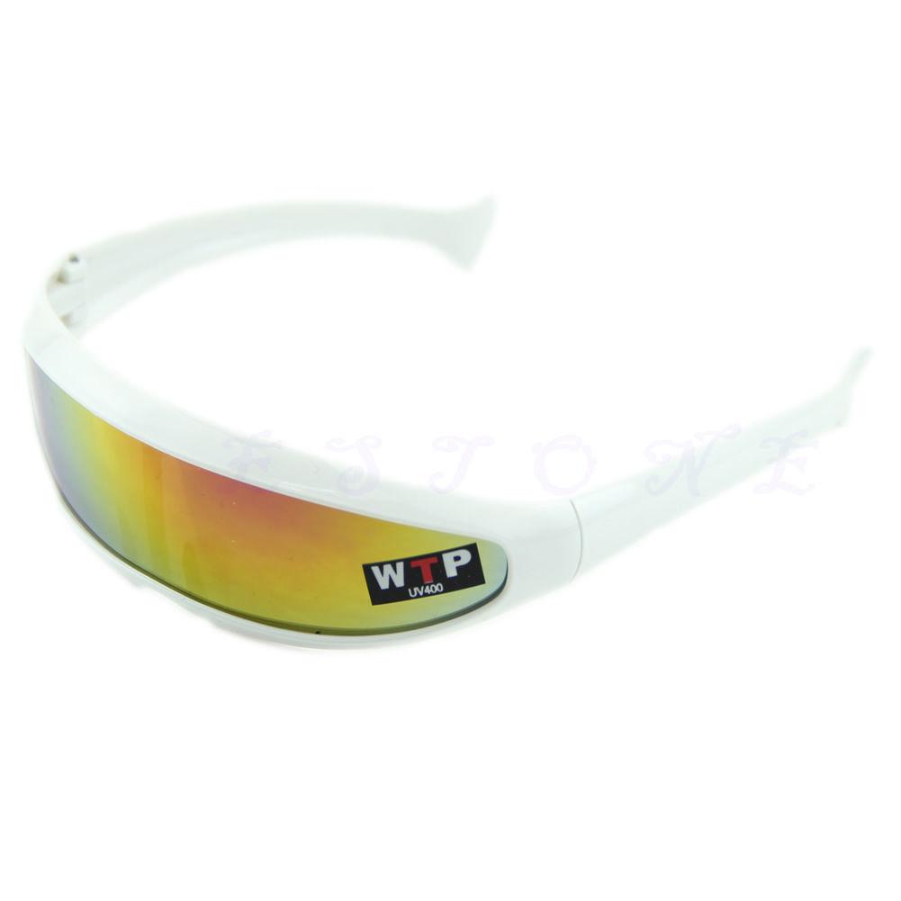 Hvide solbriller med spejlglas
