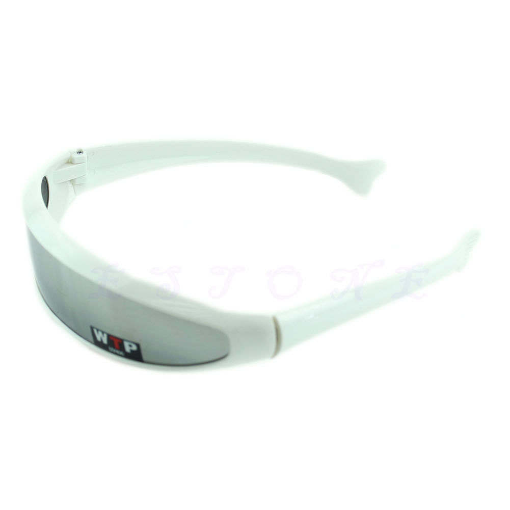 Solbriller med sølvfarvet spejlglas