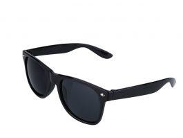 Sort Wayfarer solbriller med sort glas.