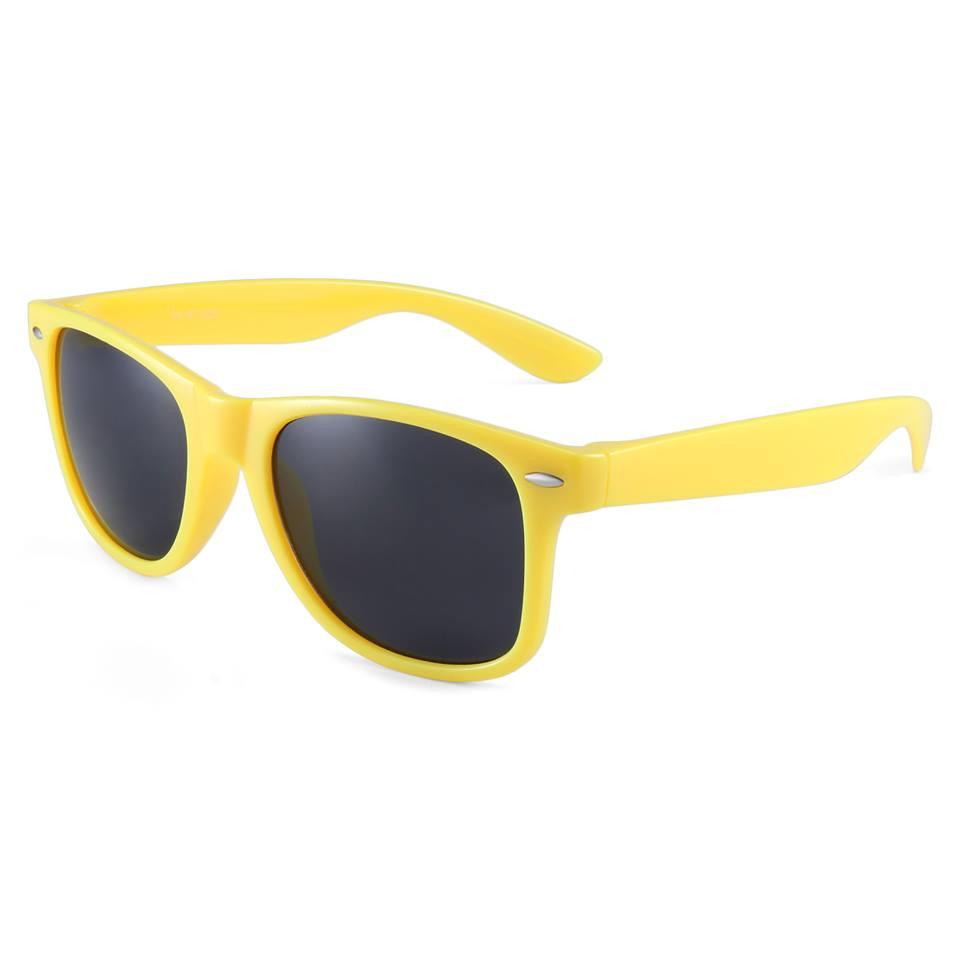 Gule Wayfarer solbriller