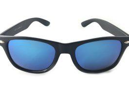 Wayfarer med blå spejlglas