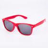 Rød Wayfarer solbrille med sort glas til børn