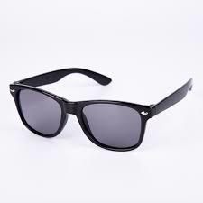 Sort Wayfarer solbrille med sort glas til børn