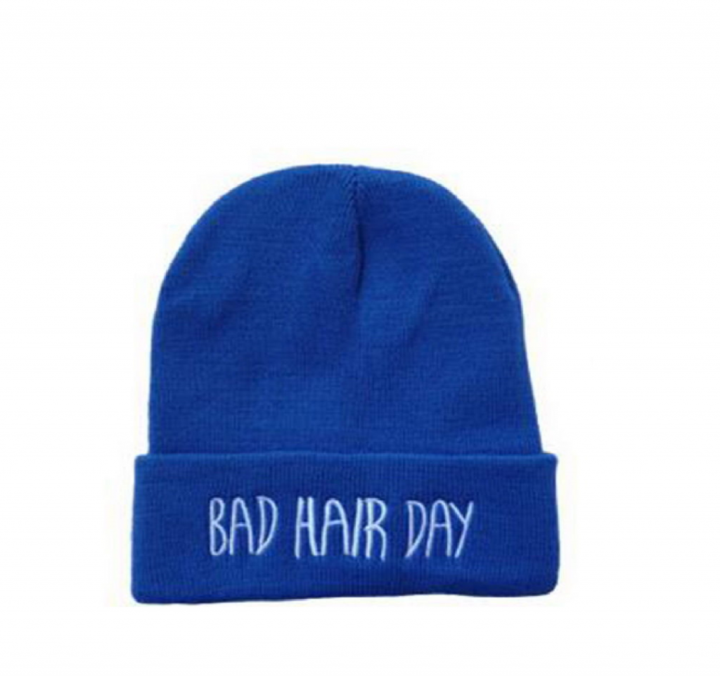 "Blå hue""Bad hair day"""