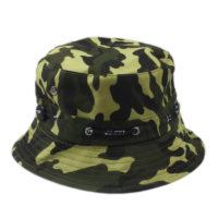 Grøn camouflage bucket hat.