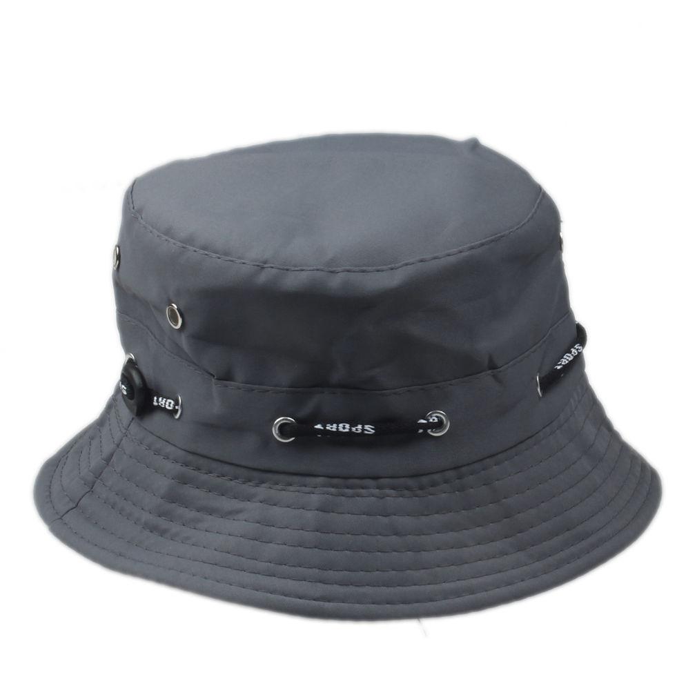 Grå bucket hat