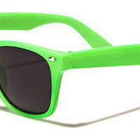Grønne Wayfarer solbriller med sort glas