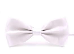Hvid butterfly i lækkert satin