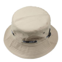 Kakifarvet bucket hat