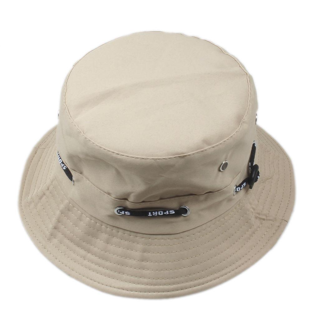 Kakifarvet bucket hat
