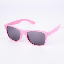 Lyserød Wayfarer solbrille med sort glas til børn