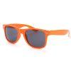 orange Wayfarer solbriller med sort glas