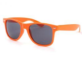 Orange Wayfarer solbrille med sort glas