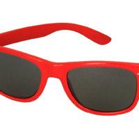 Røde Wayfarer solbriller med sort glas