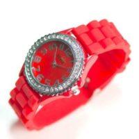 Rødt silikone ur