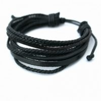 Hawaii – Sort læderarmbånd