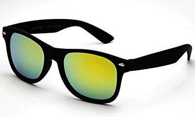 Wayfarer solbriller med grønt spejlglas