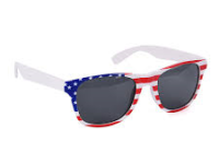 Wayfarer solbriller US flag