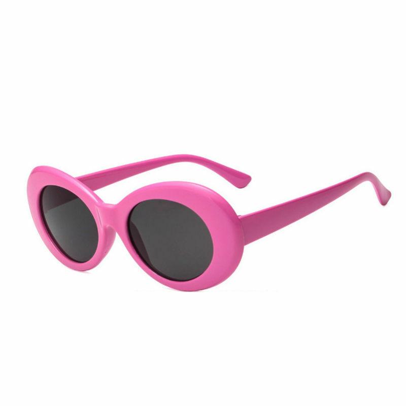 Pink flower power hippie solbrille med sort glas.