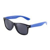 Sort Wayfarer brille med blå stænger
