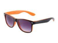 Sort og orange Wayfarer solbriller
