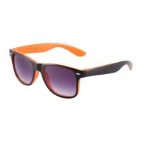 Sort og orange Wayfarer solbriller